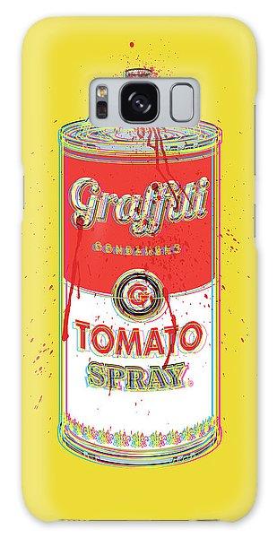 Tomato Spray Can Galaxy Case by Gary Grayson