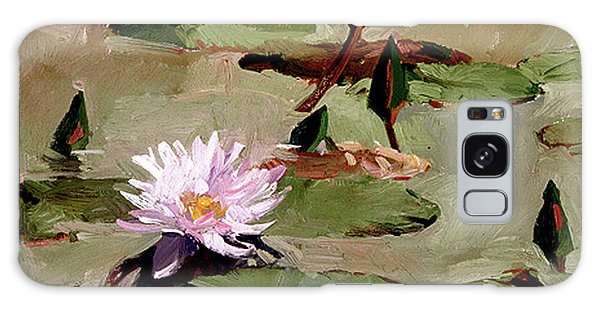 Tomorrow's Blooms- Water Lilies Galaxy Case