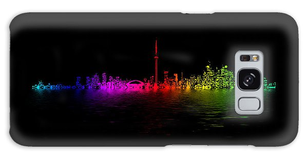 Galaxy Case featuring the photograph Toronto Rainbow Reflection by Brian Carson