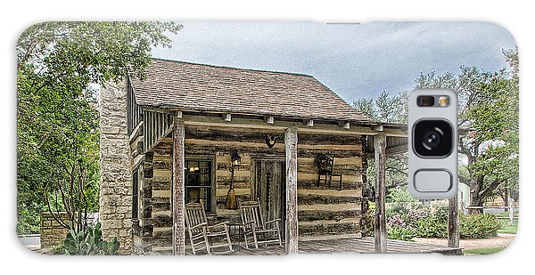 Town Creek Log Cabin Galaxy Case
