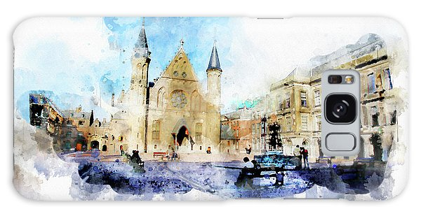 Town Life In Watercolor Style Galaxy Case