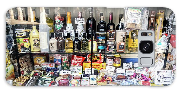 Traditional Spanish Deli Food Shop Display In Santiago De Compos Galaxy Case