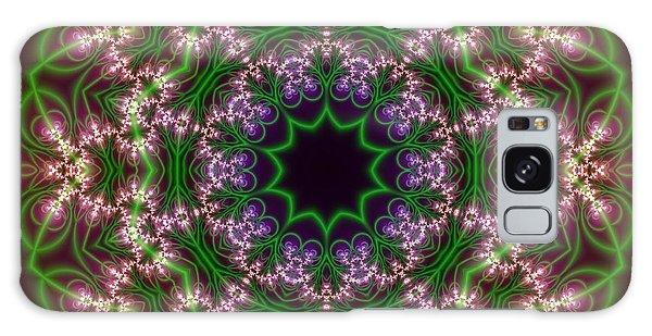 Galaxy Case featuring the digital art Transition Flower 10 Beats by Robert Thalmeier