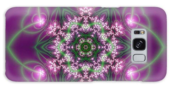 Galaxy Case featuring the digital art Transition Flower 6 Beats 3 by Robert Thalmeier