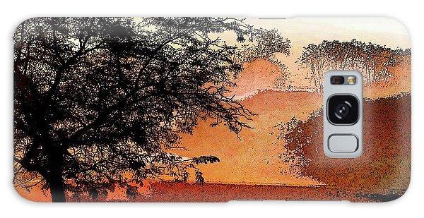 Tree In Morning Light Galaxy Case