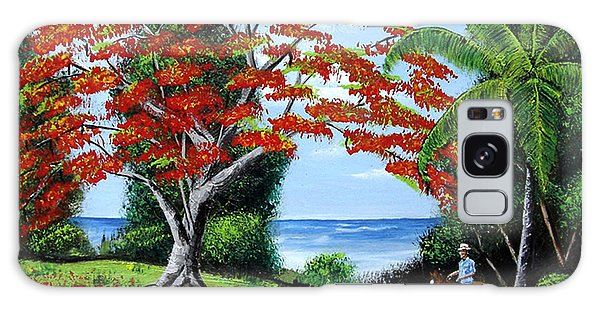 Tropical Landscape Galaxy Case by Luis F Rodriguez