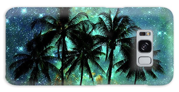 Tropical Night Galaxy Case by Delphimages Photo Creations