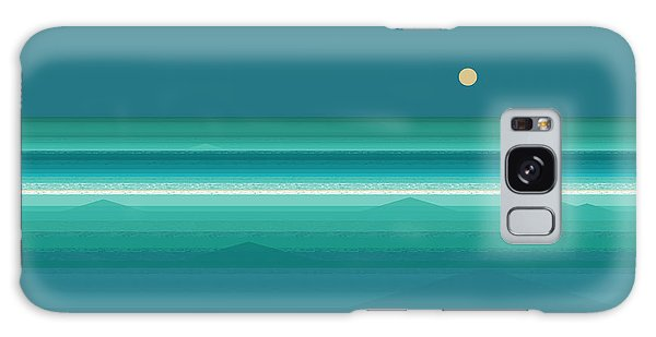 Tropical Sea Moonrise Galaxy Case by Val Arie