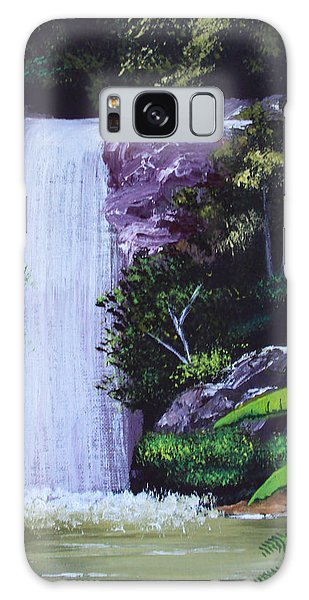 Tropical Waterfall Galaxy Case by Luis F Rodriguez
