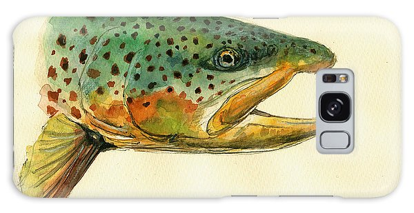 Trout Watercolor Painting Galaxy Case