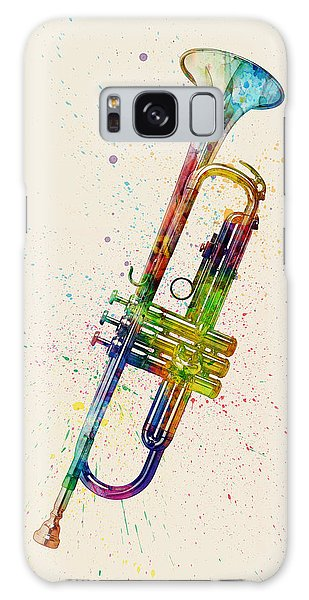 Musical Galaxy Case - Trumpet Abstract Watercolor by Michael Tompsett
