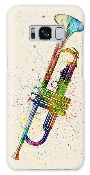 Trumpet Galaxy S8 Case - Trumpet Abstract Watercolor by Michael Tompsett