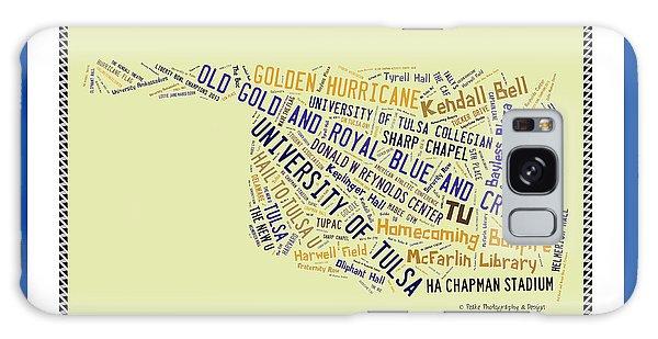 Tu Word Art University Of Tulsa Galaxy Case
