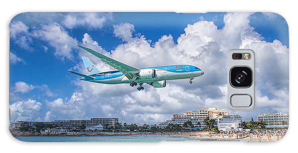 Tui Airlines Netherlands Landing At St. Maarten Airport. Galaxy Case by David Gleeson