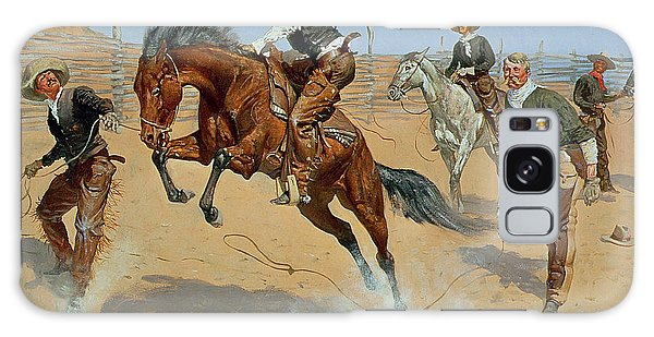 Buck Galaxy Case - Turn Him Loose by Frederic Remington