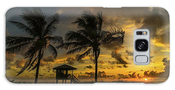 Two Palm Sunrise Delray Beach Florida Galaxy Case