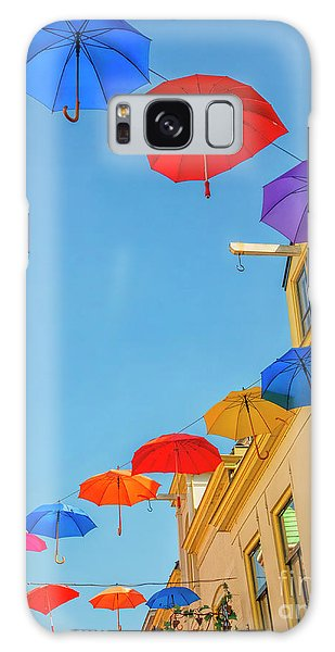Umbrellas In The Sky Galaxy Case
