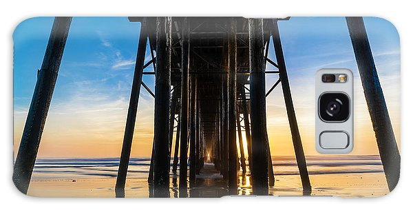 Ocean Sunset Galaxy S8 Case - Under The Oceanside Pier by Larry Marshall