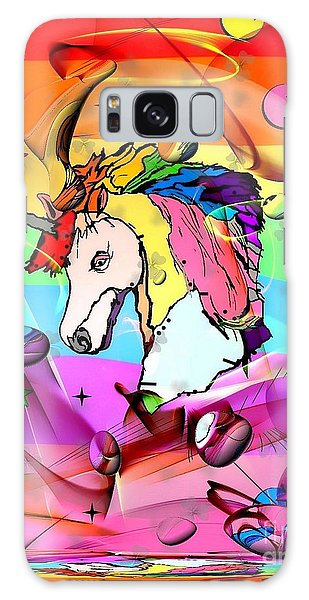 Unicorn Popart By Nico Bielow Galaxy Case by Nico Bielow