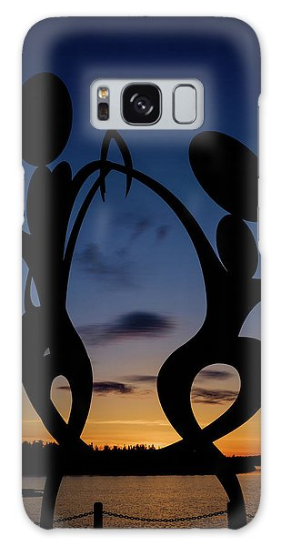 United In Celebration Sculpture At Sunset 5 Galaxy Case by John McArthur