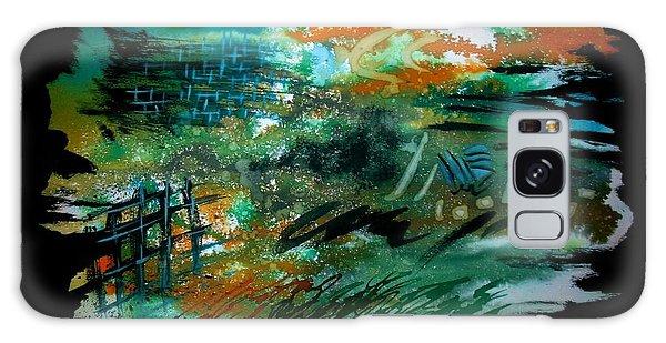 Galaxy Case featuring the painting Diganta Rekha by Tamal Sen Sharma