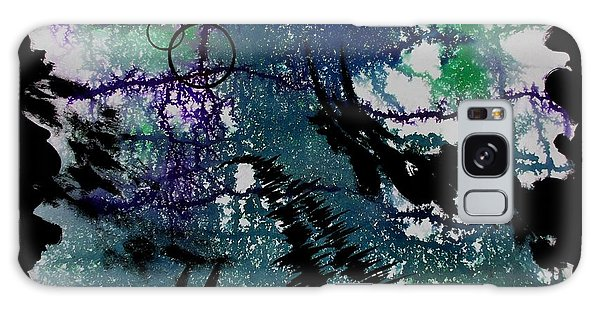 Galaxy Case featuring the painting Crack by Tamal Sen Sharma