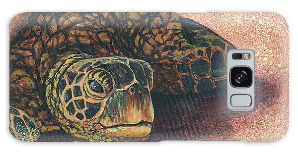 Galaxy Case featuring the painting Honu At Rest by Darice Machel McGuire