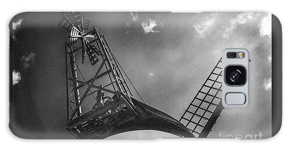 Unusual View Of Windmill - St Annes - England Galaxy Case