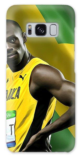 Sportsman Galaxy Case - Usain Bolt by Mounir Meghaoui