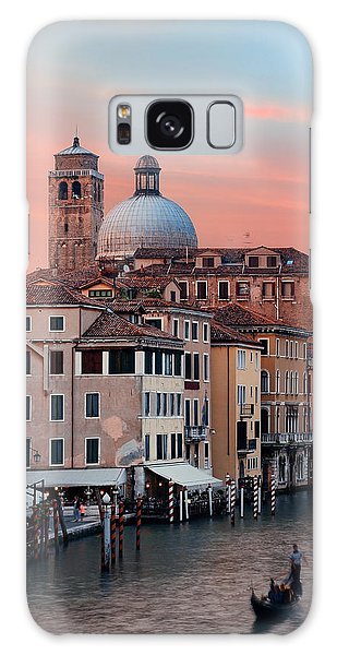 Galaxy Case featuring the photograph Venice Grand Canal Gondola by Songquan Deng
