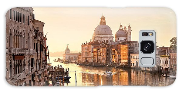 Galaxy Case featuring the photograph Venice Grand Canal View by Songquan Deng