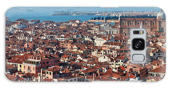 Galaxy Case featuring the photograph Venice Skyline Panorama Viewed From Above  by Songquan Deng
