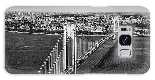 Verrazano Narrows Bridge Aerial View Galaxy Case by Susan Candelario