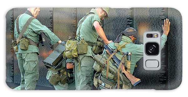 Veterans At Vietnam Wall Galaxy Case by Carolyn Marshall