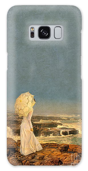 Victorian Lady By The Sea Galaxy Case