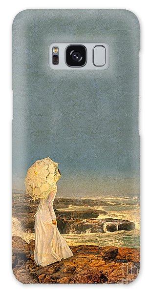 Victorian Lady By The Sea Galaxy Case by Jill Battaglia
