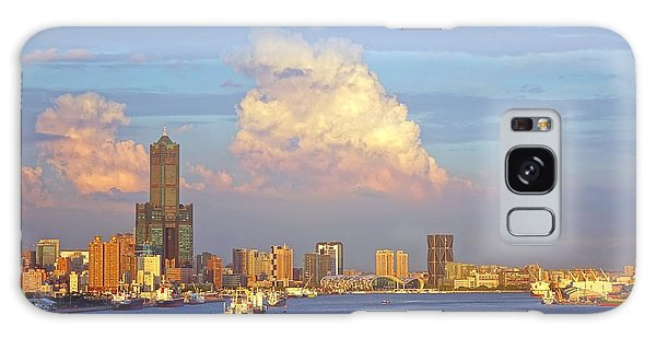 View Of Kaohsiung City At Sunset Time Galaxy Case