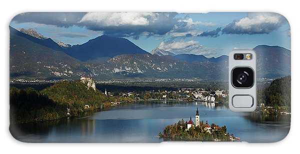 View Of Lake Bled From Ojstrica Galaxy Case