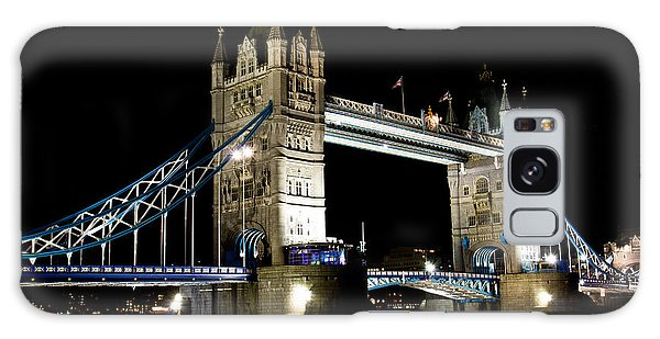 View Of The River Thames And Tower Bridge At Night Galaxy Case