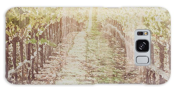 Vineyard In Autumn With Vintage Film Style Filter Galaxy Case