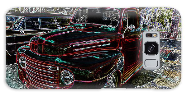 Vintage Chevy Truck Neon Art Galaxy Case