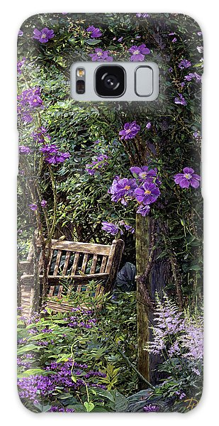 Violet Garden Respite Galaxy Case by Doug Kreuger