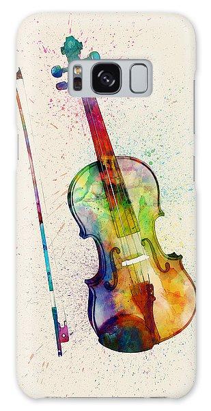 Violin Galaxy Case - Violin Abstract Watercolor by Michael Tompsett