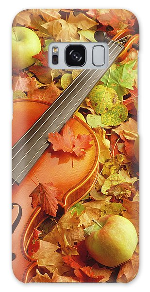 Violin With Fallen Leaves Galaxy Case