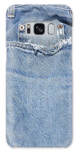 Worn Jeans Galaxy Case by George Robinson