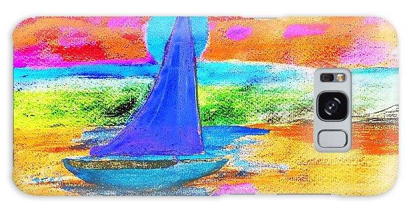 Watercolor Sailing Galaxy Case