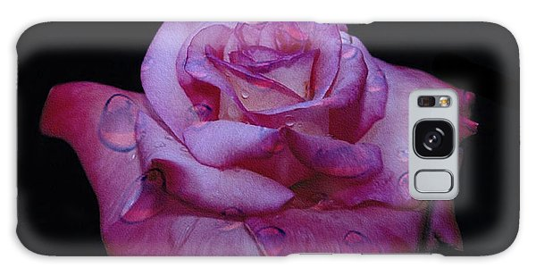 Watered Red Rose Galaxy Case
