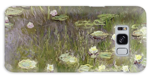 Lily Galaxy Case - Waterlilies At Midday by Claude Monet
