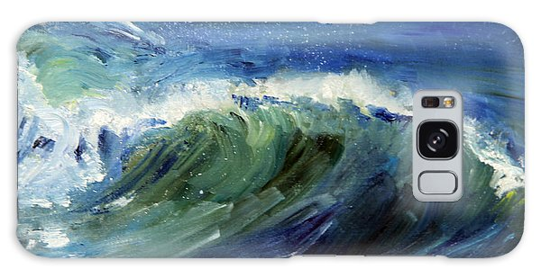 Wave Action Galaxy Case by Michael Helfen