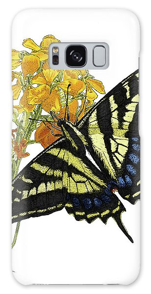 Western Tiger Swallowtail On A Western Wallflower Galaxy Case